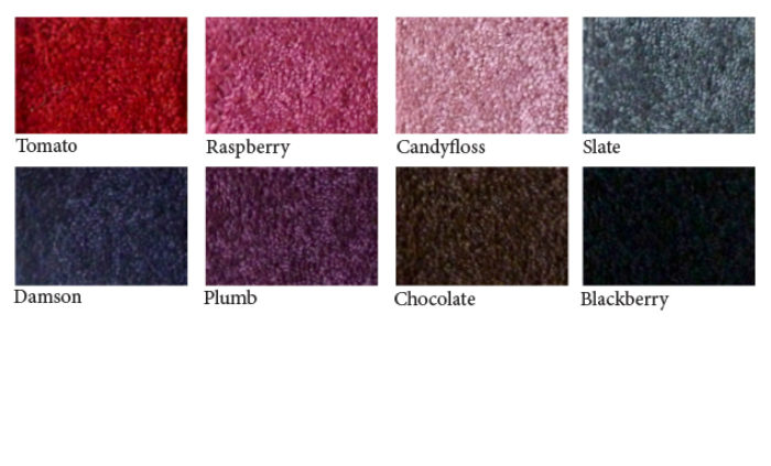 Plain-carpet-colour samples