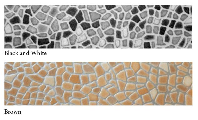 Vinylmosaic---bw+brown