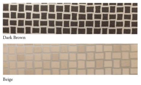 Vinylmosaic-darkbrown+beige