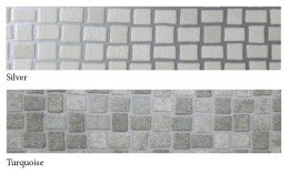 Vinylmosaic-silver+turqoise